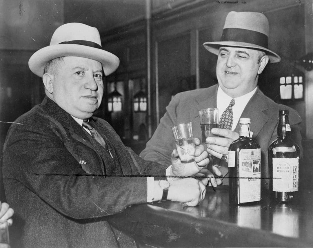 former federal prohibition officers enjoying a drink