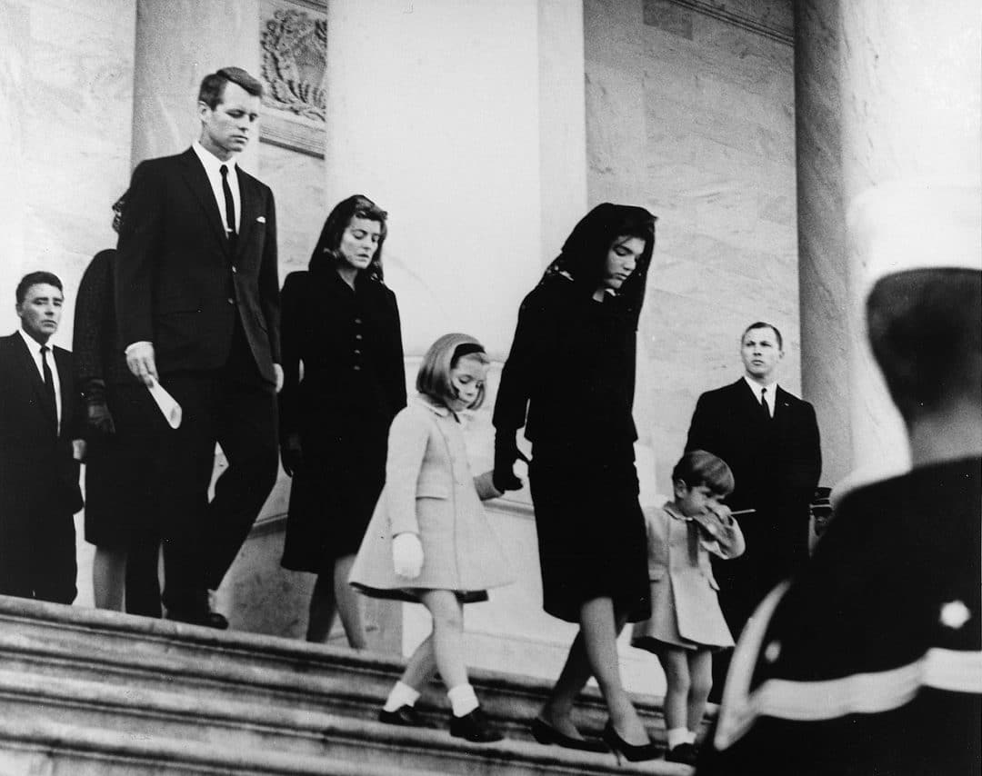 john f kennedy s family leaves capitol after his funeral