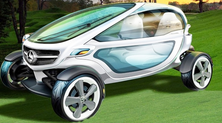 High Tech Golf Cart Concept By Mercedes Benz Celebrity Net Worth