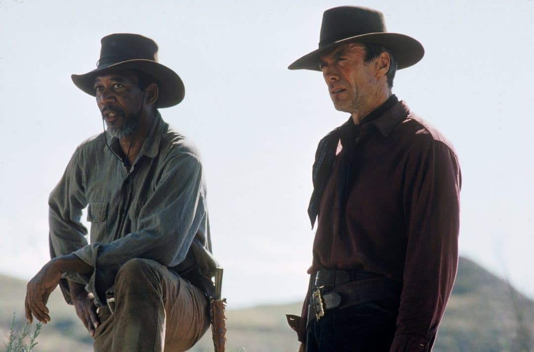 Screen capture of Morgan Freeman with Clint Eastwood