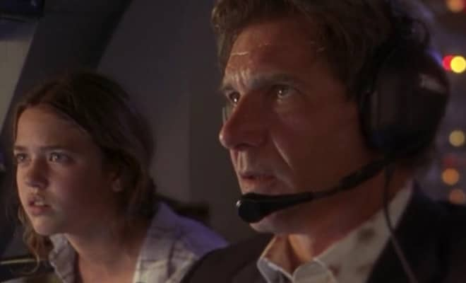 Harrison ford's Air Force One movie scene