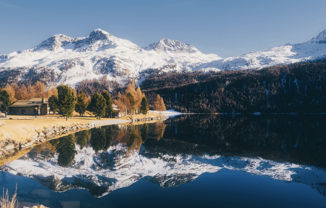 best countries to move to -Switzerland lake water with snow
