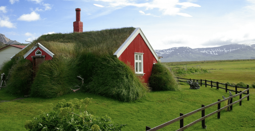 best countries to move to -Iceland Bordafjordur view of Roofing Grass