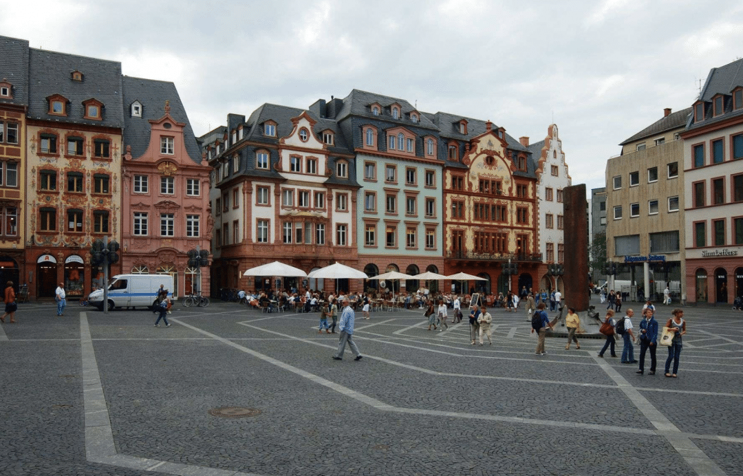 best countries to move to - Market square at Mainz Germany